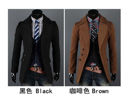 Wholesale New HOT Fashion Men s Coat Men s Slim Single breasted Concise Large lapel OverCoat Coat