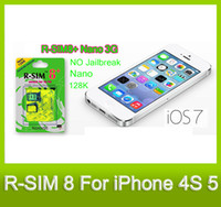 Wholesale RSIM R SIM R SIM The Worlds First Advanced R SIM Plus Has Been Released Supporting iPhone K Nano G Card No Need Jailbreak