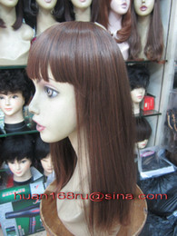 Wholesale High Quality Fashionable Wigs medium long Straight Hair Synthetic Wigs