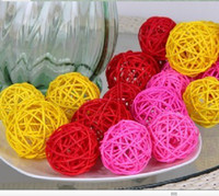 Wholesale 3 cm inch Diameter Creative rattan ball for Christmas Wedding Decoration home Ornament craft supplies