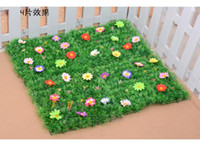 Wholesale Artificial plastic grass mat home wedding Party decoration styles available