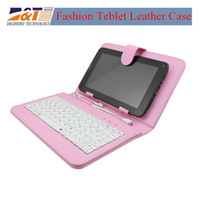 Keyboard Case 7'' for 7inch tablet Wholesale Universal Leather Case with keyboard Flip Cover for 7 inch Tablet PC Stand Folio Folding keyboard Case