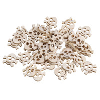 Wholesale ZFI17 g New Sewing Wooden Buttons Skull Scrapbooking Loose Beads Craft Fit Clothes Decoration Khaki Colors Assorted Solid Accessories