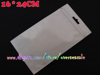 Wholesale 16 cm cm cm White amp Clear Self Seal Zipper Zip Plastic Retail Package Packaging Bag Bags Zip lock with Hang Hole