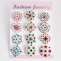 Wholesale Hot Fashion Brooches Pins Women Rhinestone Breastpin Bouquet Wedding Brooches Christmas Pins Gift