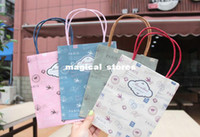 Plastic Paper B0911-003 Vintage tower and stamp series kraft paper gift bag, Kids Paper bag with handles, wholesale price