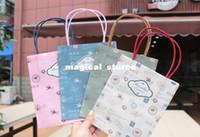 Plastic Paper B0911-003 Vintage tower and stamp series kraft paper gift bag, Kids Paper bag with handles, wholesale price