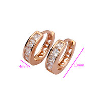 Wholesale JewelOra designer inspired jewelry gold and rhinestone hoop earrings Rose Gold Plated Earrings EA101170