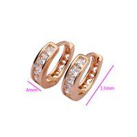Hoop Earrings designer inspired jewelry - JewelOra designer inspired jewelry gold and rhinestone hoop earrings Rose Gold Plated Earrings EA101170