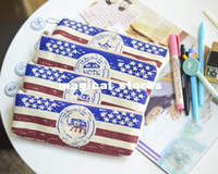 Fabric Pencil Bag Plastic F30-136 New fashion Hollywood Dream series fabric Pencil bag vintage pen case & Cosmetic pouch Wholesale