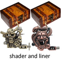 Wholesale Hot Por Tattoo Machine Gun Shader Liner Gift Wood Box M304 M310