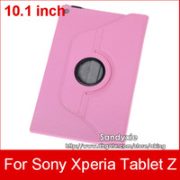 1PC Lichi PU Leather Case 360 Degree Rotating Case for Sony ...