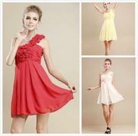 Cheap 2013 Bridesmaid Dresses Sweet princess Greek Style Goddess Short One-shoulder Party Dress Bridesmaid Dress