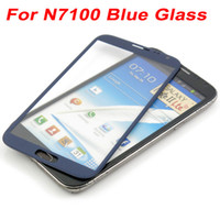 note 2 lcd screen - Blue Front Glass Replacement For Samsung Galaxy Note II N7100 LCD Touch Screen Cover Outer Glass Lens