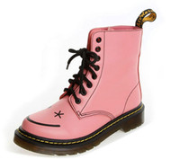 Lace-Up acid yellow - 2013 German Brand Design Women Hincky Smiley Eye Lace Up Boot Lady Z Welt stitch Candy color Acid Pink Smooth Martin Genuine Leather Boots