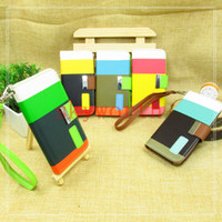 Leather For Apple iPhone For Christmas Hybrid Colorful Wallet Credit Card Stand leather case cover For iphone 4 4S iphone 5 5S