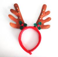 Deer Style Christmas HeadBand antler headband - Christmas Reindeer Antlers Headband Asst Costume Christmas Party