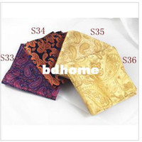 Wholesale Men s small square handkerchief dress suit pocket square chest towel beautiful silk pattern