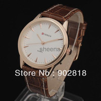Men's Water Resistant Round *Newest* Fashion Stylish Business Casual Men's Leather Quartz Movement Clock Wrist Watch Hours