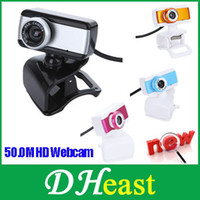 Wholesale USB M HD Webcam Camera Web Cam With MIC For Computer Desktop PC Laptop Blue Orange Silver Rose Color Freeship