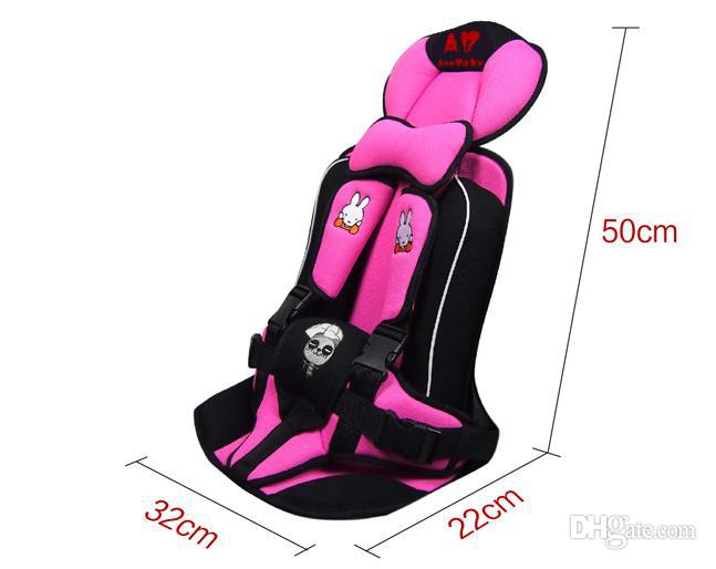 Five-point harness car child car seat thick soft fabric baby car seat