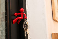 Wholesale Wall Climbing Boy Magnetic Key Holder key pete Keychain Refrigerator Sticker Magnetic Climbing Man Key Holder Good Quality