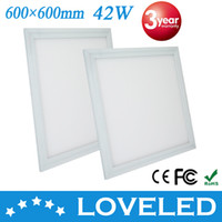 No 85-265V 3014 Ultrathin LED Panel Light 600*600mm 42W 3300lm Cool White 3 Year Warranty CE RoHS Approved Free Shipping+10pcs lot