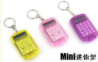 Wholesale Cute Mini Pocket Digits LCD Display Flip Cover Calculator w Keyring Key Chain