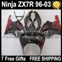 7gifts For KAWASAKI red flames NINJA ZX- 7R 96- 03 1996 2003 Q...