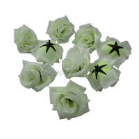 Wholesale Pieces Roses Artificial Silk Flower Heads for Wedding hair clip