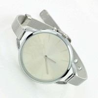 Wholesale Hot Brand Silver Watch Stainless Steel Fashion Collors Dial Analog Quartz Luxury Gift Wrist Watch C4001