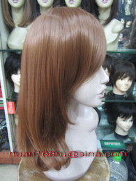 Wholesale High Quality Fashionable Wigs medium long wavy Hair Synthetic Wigs