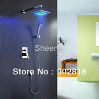 Wholesale Luxury Solid Brass No Battery LED Shower Faucet with inch Shower Head Hand Shower