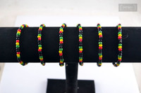 Wholesale 20pc Elastic Stretch Bracelets Glass Seed Beads Bracelet Rasta Reggae Punk Hiphop Fashion Jewelry