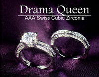 South American american ideals - Sz5 Jewelry Hearts Arrows Ideal cut Swiss Four claws double Switzerland AAA zircon set of rings