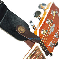 Wholesale Guitar Strap Button Brown Leather Hook Leatherette Strap Holder Head Stock Tie for Acoustic Folk Classic Guitar Guitare Brand New