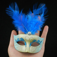 Wholesale on sale cute feather mini mask venetian masquerade decoration novelty birthday gift wedding favor EMS mix color