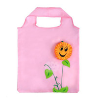 Wholesale Shopping Bags Sunflower smiley folding shopping bags