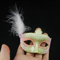 Wholesale sexy feather aside mini mask birthday gift fancy masks for masquerade decoration wedding favor EMS mix color
