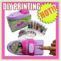 Nail Art Stamping Machine Nail Art Equipment Yes Free Shipping DIY Nail Art Colors DIY Printing Printer Stamper Pattern Manicure Machine Stamp Kit #1130
