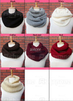 Wholesale 50 New arrivals Winter Warm Infinity Circle Cable Knit Cowl Neck Long Scarf Shawl