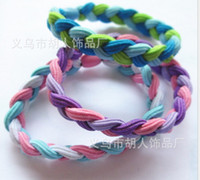 Wholesale Mixed Colors Hot Sale Braided Hair Bands Rubber Head Style Sweaty Headband Sports For Girl Women Accessories L358