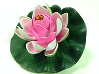 Wholesale EVA Foam Water Lily Lotus Artificial Flowers Simulation Pond Lilies Colors
