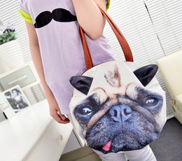 Wholesale 2015 Hot Fashion Women Oil Print Dog Design PU Handbag Shoulder Bags Bags Luggages Accessories