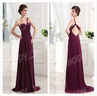 Wholesale DHL Wine Red One Shoulder Woman Evening Bridemaid Dress Back Open Prom Gowns Real Sample get a pic free bracelet