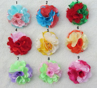two- color lace rose flower head Headdress brooch hair clips ...
