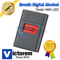 Wholesale Free Urgent DHL Delivery Precision Digital Breath LCD Alcohol Tester Rotating Mouthpiece Breathalyzer Advanced Alcohol Sensor
