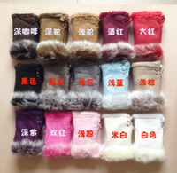 Wholesale Hot New pair selling Rabbit fur gloves rabbit hair FINGERLESS GLOVE gloves Xmas Rabbit Fur HAND