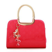 Wholesale 2013 new candy jelly bag embossed patent leather handbag big red bag bride bag