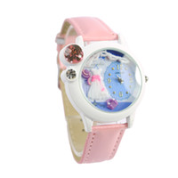 Wholesale Women Mens D with Crystal Rhinestone Big Dial Quartz Watch Wrist Watch Black